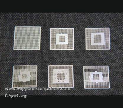 BGA 6 τμχ NVIDIA Direct Heat Stencils - Pack 3