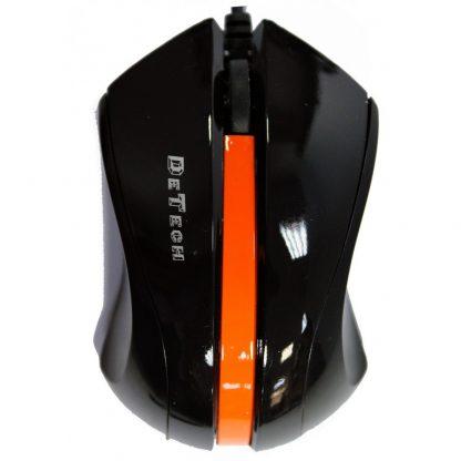 DeTech Μαύρο Ποντίκι Οπτικό USB Optical 6D Wired