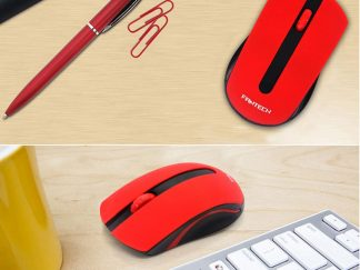 FanTech Red Wireless Optical Mouse W556