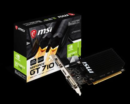 MSI NVIDIA GeForce® GT 710 2GB (GT710-2GD3HLP)