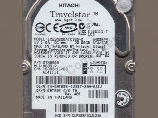 Hitachi IC25N020ATCS05-0 HDD 20GB 2.5' IDE