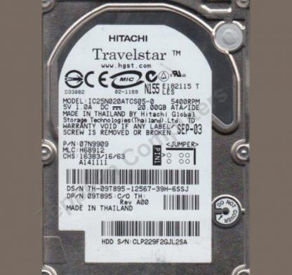 Hitachi IC25N020ATCS05-0 HDD 20GB 2.5' IDE