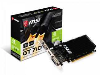 MSI NVIDIA GeForce® GT 710 1GB (GT710-1GD3HLP)
