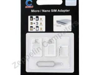 Nano SIM & Micro SIM Adapter Set white