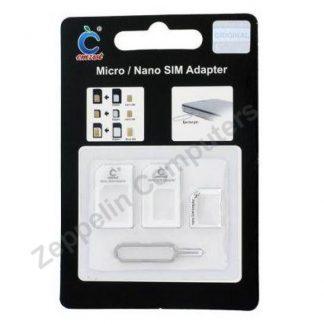 Nano SIM & Micro SIM Adapter Set white