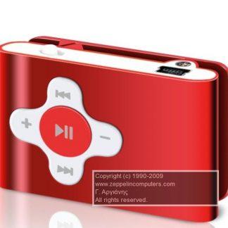 Sweex Clipz MP3 Player Red 2 GB