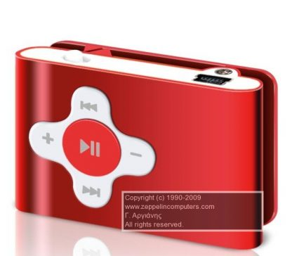 Sweex Clipz MP3 Player Red 2 GB