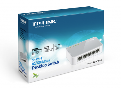 TP-Link TL-SF1005D 5ports switch RJ-45 100 Mbps